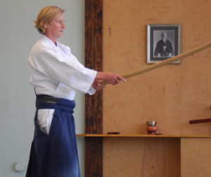 Betsy with bokken